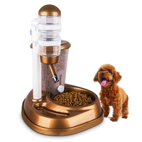 2 in 1 Pet Automatic Drinking Fountain Large Capacity Cat Dog Rabbit Food Water Feeder Dispenser Feeder Pets Water Dispenser