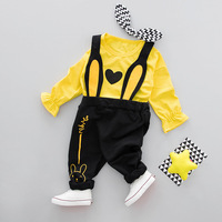 2pcs Infant Sets Baby Boys Girls Suit 0 1 2 Years Little Boys Spring Long Sleeve