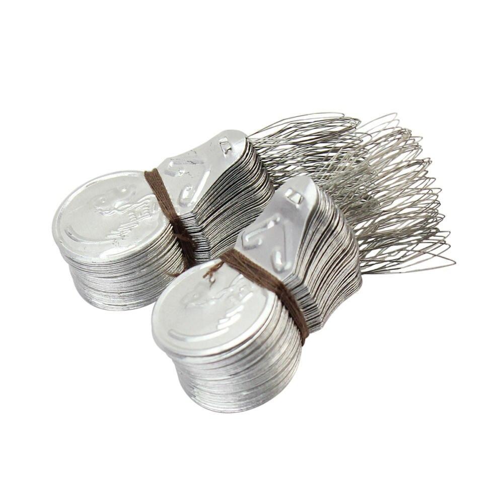 100x Silver Tone DIY Bow Wire Needle Threader Stitch Insertion Hand Machine Sewing Tool maquina de coser de mano