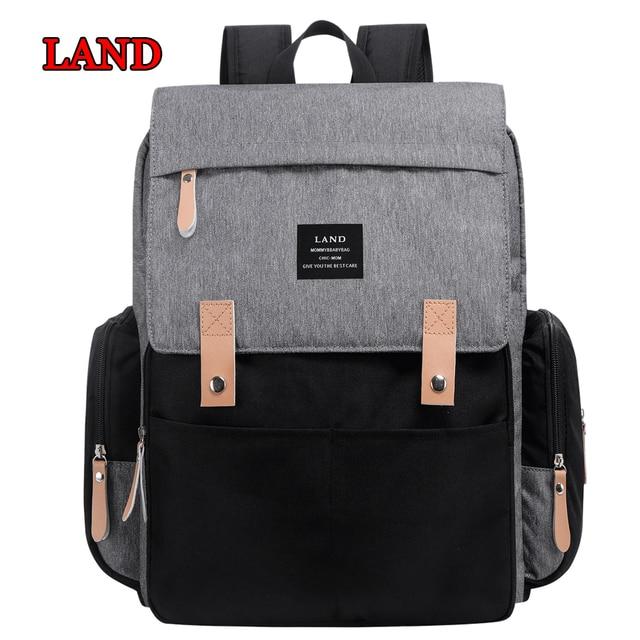 New Land Diaper Bag Backpack Maternity Nursing Stroller Twins Baby Large Capacity Waterproof Travel Handbags