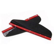 PVC Flexível Universal Traseira Do Carro-Espelho retrovisor Chuva Sombra Rainproof Blades Carro de Volta Espelho Sobrancelha Capa de Chuva, preto