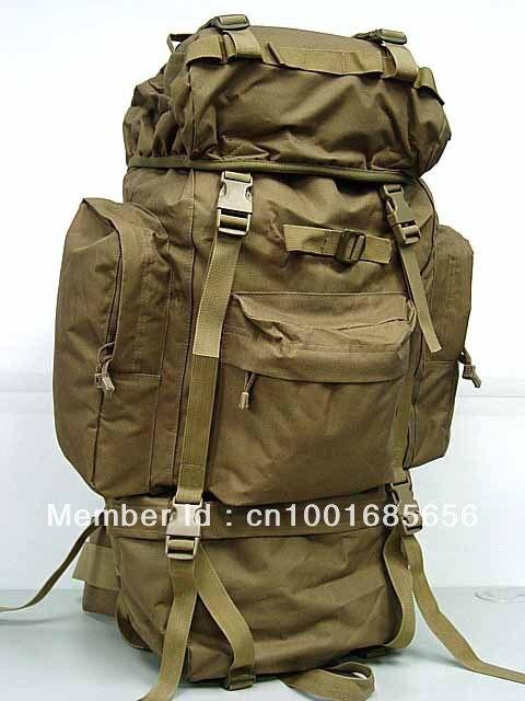 65L Combat Rucksack Camping Backpack Coyote Brown MC OD BK Camo Woodland