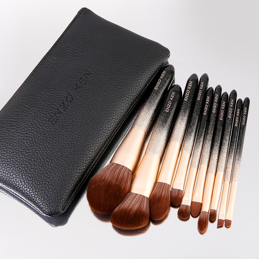 ENZO KEN 10 Pcs Makeup Brushes Set for Highlighting and Contouring Suitable for Eye and Face Makeup 7