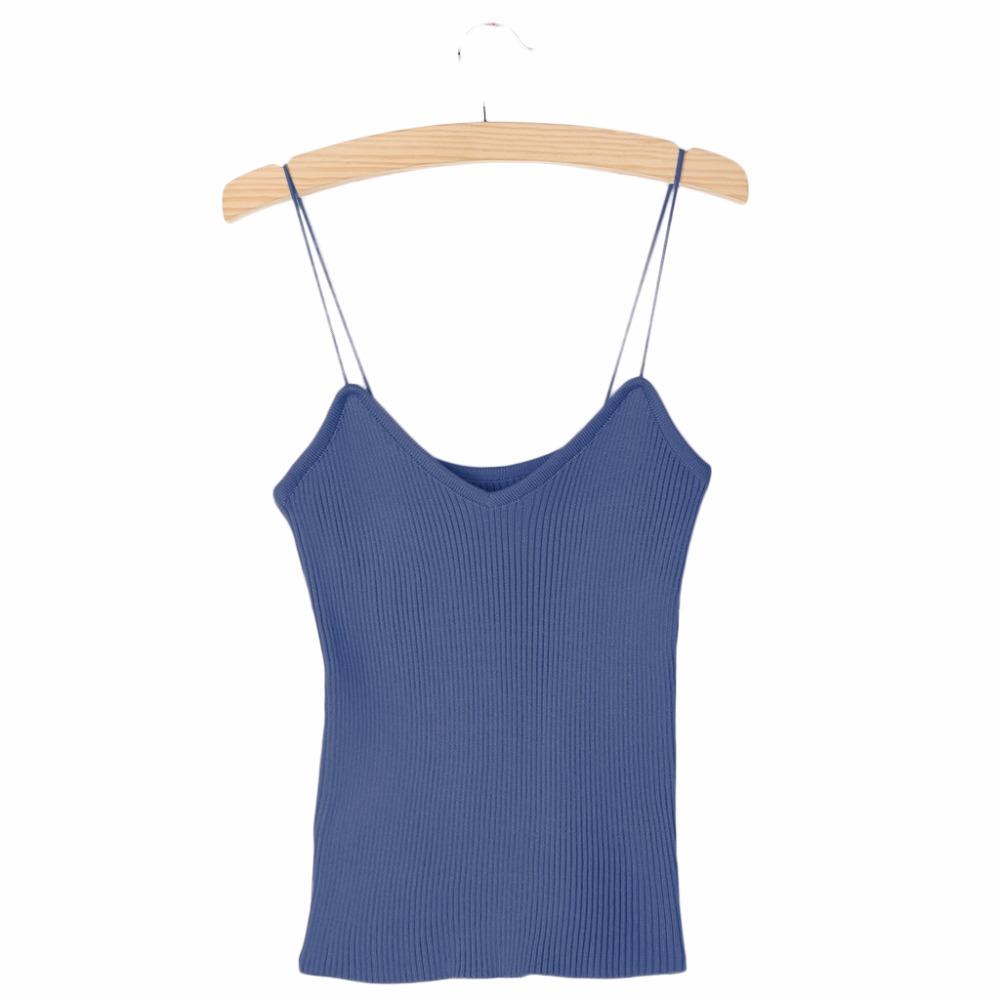 HTB1AVDXPVXXXXXGXFXXq6xXFXXXP - REE SHIPPING 9 Colors Knitted Tank Tops Women Stretchable VNeck Slim JKP311