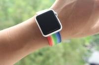 urvoi ремешок для Apple часы серии 4 3 2 1 тканые нейлон ремешок нато запястье для iWatch от новые расцветки стилей узор с классический пряжки