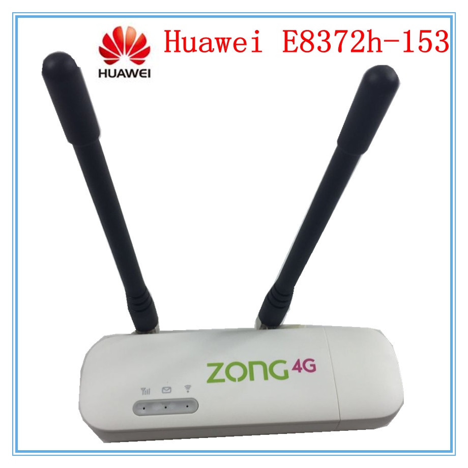 US $34 99 |Unlocked Huawei E8372 E8372h 153 ( plus a pair of antenna) LTE  USB Wingle LTE Universal 4G WiFi Modem dongle car wifi PK E3372-in Modems