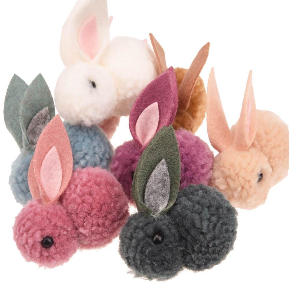 """4PCS Boutique 2"""" Bunny Easter Accessories Cute Hair Accessories Bunny Ears Fashion Headwear  No Hair Bows Boutique Flower"""