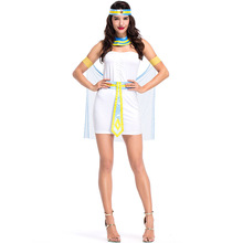 Umorden Carnival Party Halloween Costume Sexy Egypt Cleopatra Fantasia Egyptian Queen Costumes Cosplay Mini Tube Dress