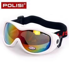 POLISI Children Kids Snowboard Ski Snow Goggles UV400 Anti-Fog Lens Skiing Eyewear Winter Skate Snowmobile Glasses