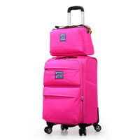Ultra light trolley luggage picture box large capacity universal wheels travel luggage bag,14 20inch mother and son luggage sets