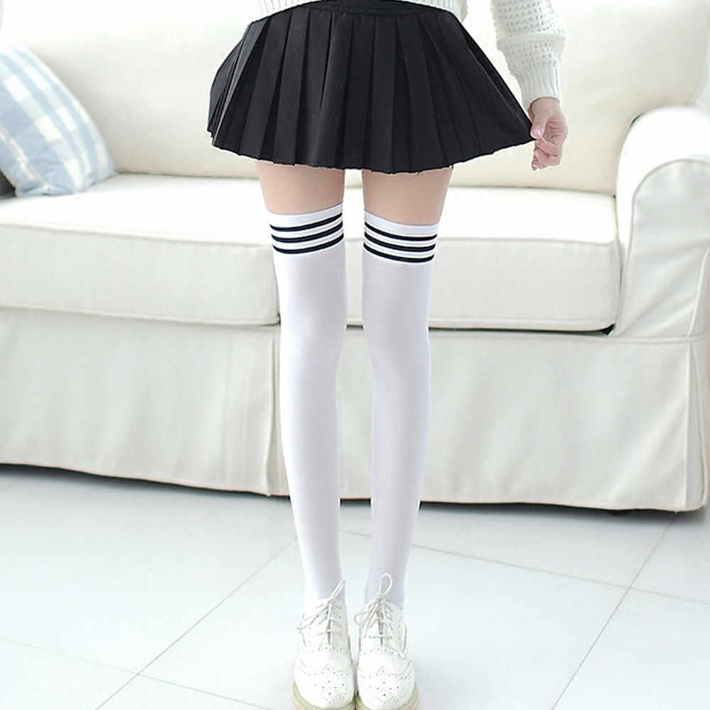 e0242df97135a Detail Feedback Questions about Thigh High Over Knee High Socks Girls  Womens New 1 Pair Fashion socks Girls Womens Female Long Knee Sock Fashion  Striped ...