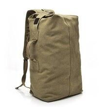 купить Outdoor Canvas Travel Duffle Bag Military Large Capacity Men Sport Gym Training Bag Multifunctional Handle Backpack Travel Bags онлайн