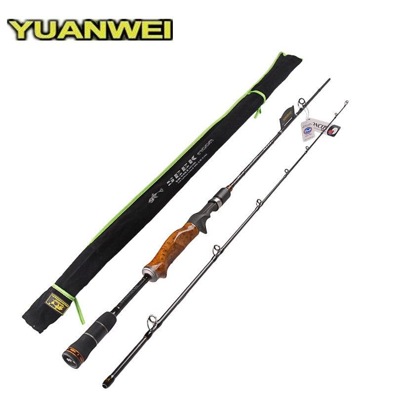 YUANWEI 2 Secs Wood Handle Casting Fishing Rod 1 98m 2 1m 2 4m ML M