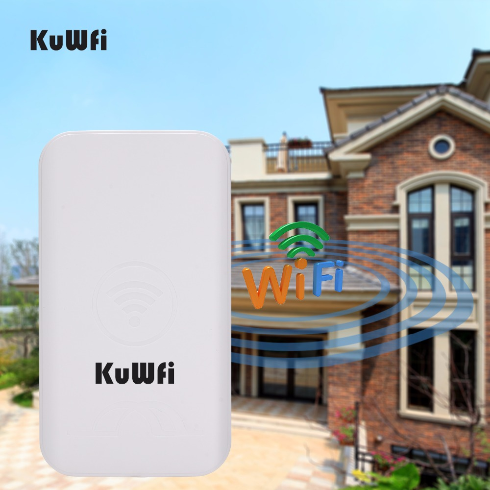 Image 3 - KuWFi 300Mbps 2PCS 1 3KM Outdoor CPE Router 5G Wireless Access Point Router Wifi Bridge Wi fi Extender CPE Router With 24V POE-in Wireless Routers from Computer & Office