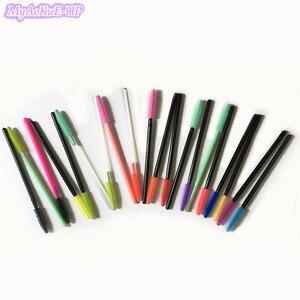 Image 1 - 1000 шт., одноразовые разноцветные кисточки для туши для ресниц
