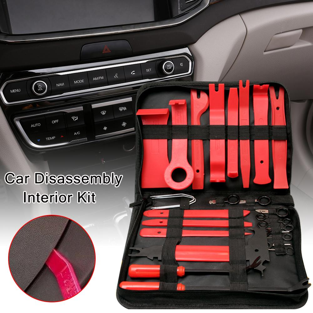 30pcs/set Car Audio Interior Removal Tools Dashboard DVD Player Modification Tools Panel Audio Removing Tool Auto Disassembly