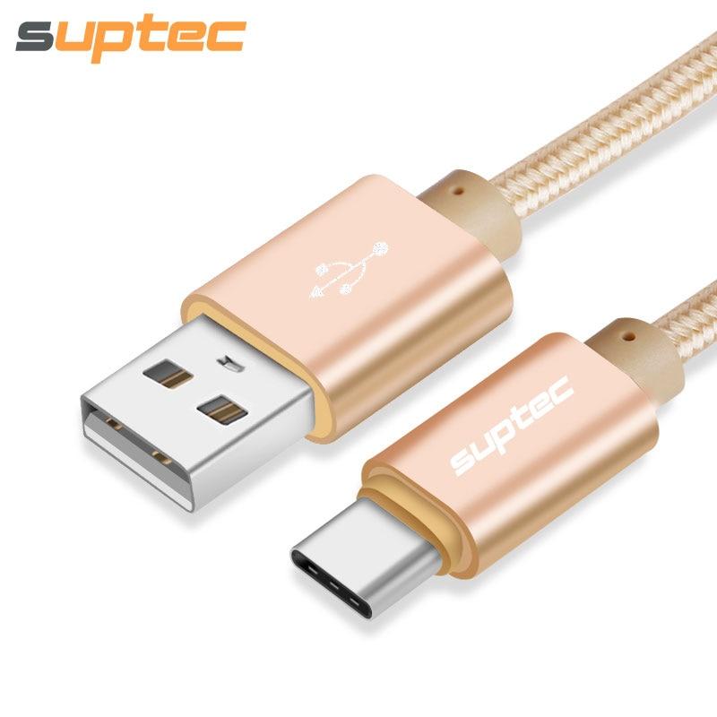 SUPTEC USB Tipe-C Kabel USB 3.1 Tipe C Kawat Cepat Pengisian Data Sync Kabel untuk Xiaomi Mi5 5 s Redmi 4 pro Huawei P9 P10 ditambah ...