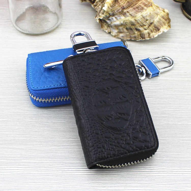 Las mujeres de cuero de los hombres monedero llave de coche carteras caso de las mujeres de la moda ama de llaves los titulares al por mayor bolsa