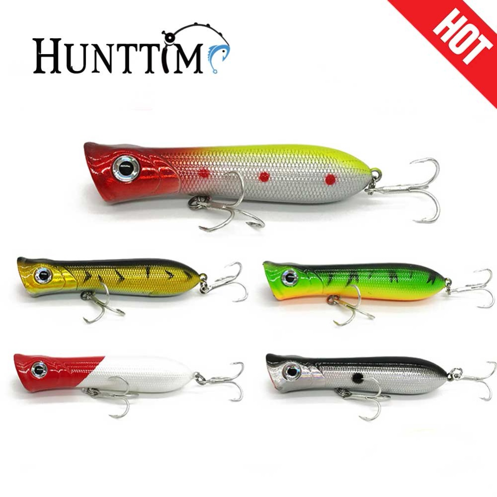Popper Wobbler Fishing lure 6# hooks 8cm 11g Hard baits Floating Crankbait Artificial Bait 3D Eyes Poper Pesca Carp Pike DX30