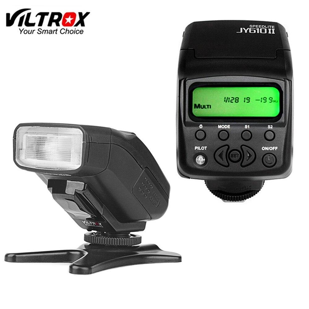 Viltrox JY610II Mini LCD Speedlite luz de Flash de la Cámara de sony a9 a6500 a7sii a7rii a7s a7r a6300 a6000 a7 a3000 a58