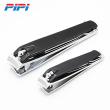 Black Stainless Steel Nail Clipper Cutter Professional Manicure Trimmer Toe Nail Clippers Knife With Nail File black white large carbon steel nail clipper cutter professional manicure trimmer high quality toe nail scissors clip catcher