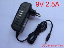 Conversor adaptador, 1 peça de alta qualidade 9v 2.5a ac 100v-240v dc 2500ma fonte de alimentação ue plugue para pipo p1 m3 m6pro m6 m8 tablet pc