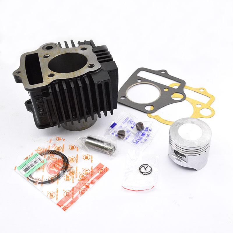 High Quality Motorcycle Cylinder Kit 50mm Bore For C100 JD100 WS100 DY100 100cc Horizontal Engine Spare Parts jiangdong engine parts for tractor the set of fuel pump repair kit for engine jd495