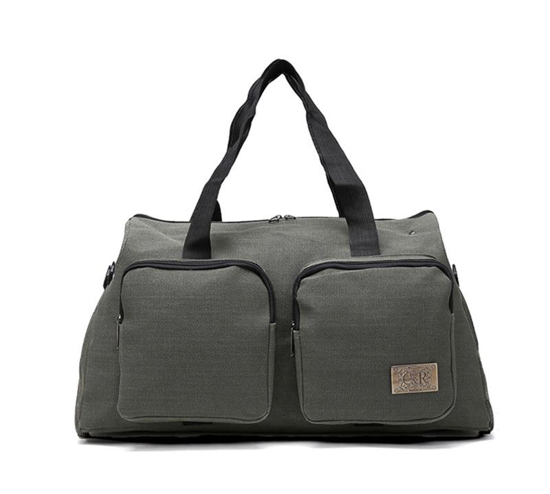 Green Custom Durable Canvas Travel Luggage Bag Duffle Bag