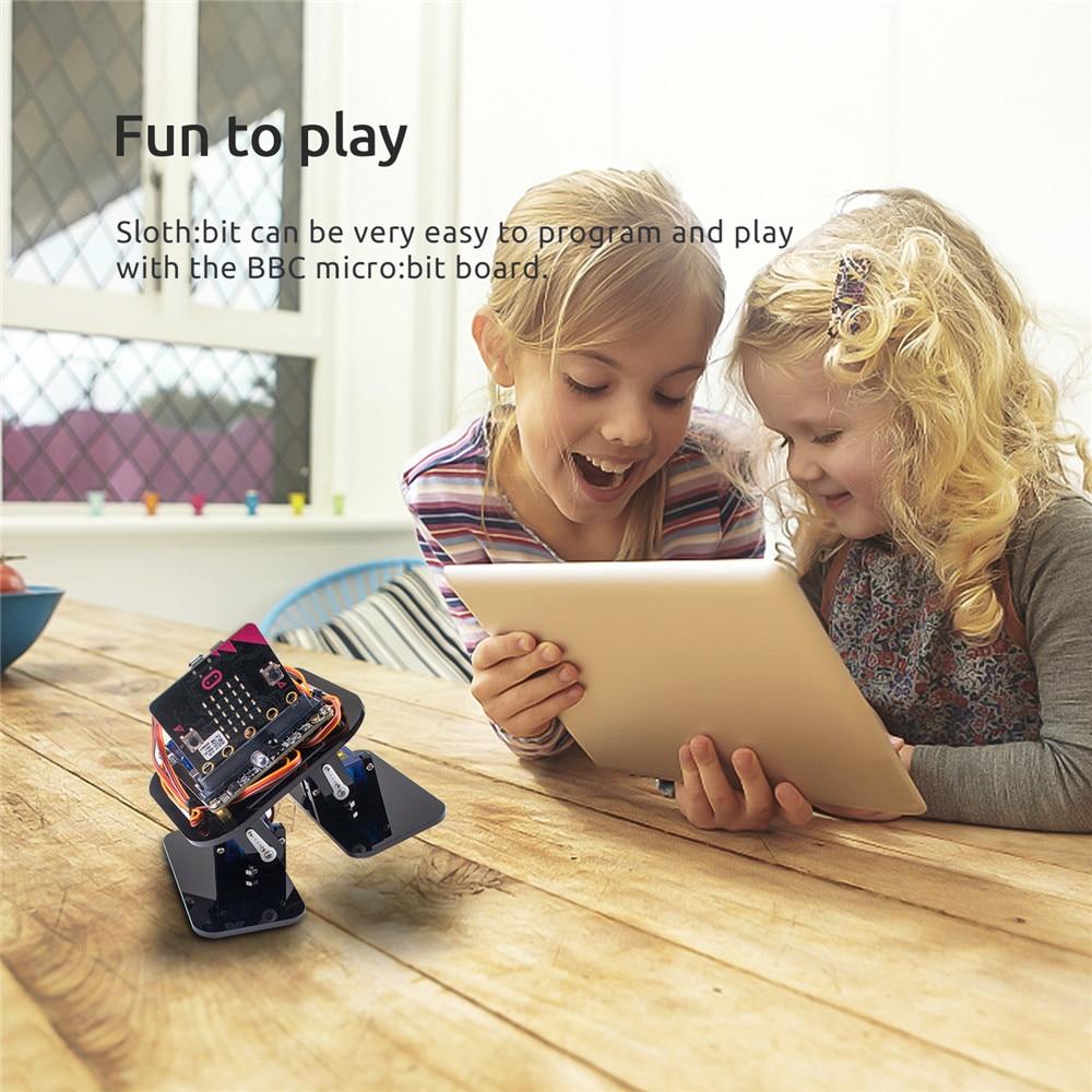 SunFounder sloth:bit APP Programming Robotics Learning Kit with BBC Micro:bit Controller obstacle Avoidance Sensor