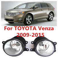 For Toyota VENZA 2009 10 11 12 13 14 Car Styling Fog Lights Front Bumper Light