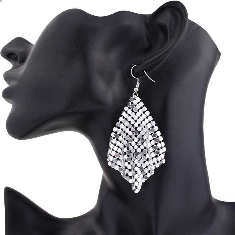 geekoplanet.com - Geometric Round Shiny Dangle Earrings
