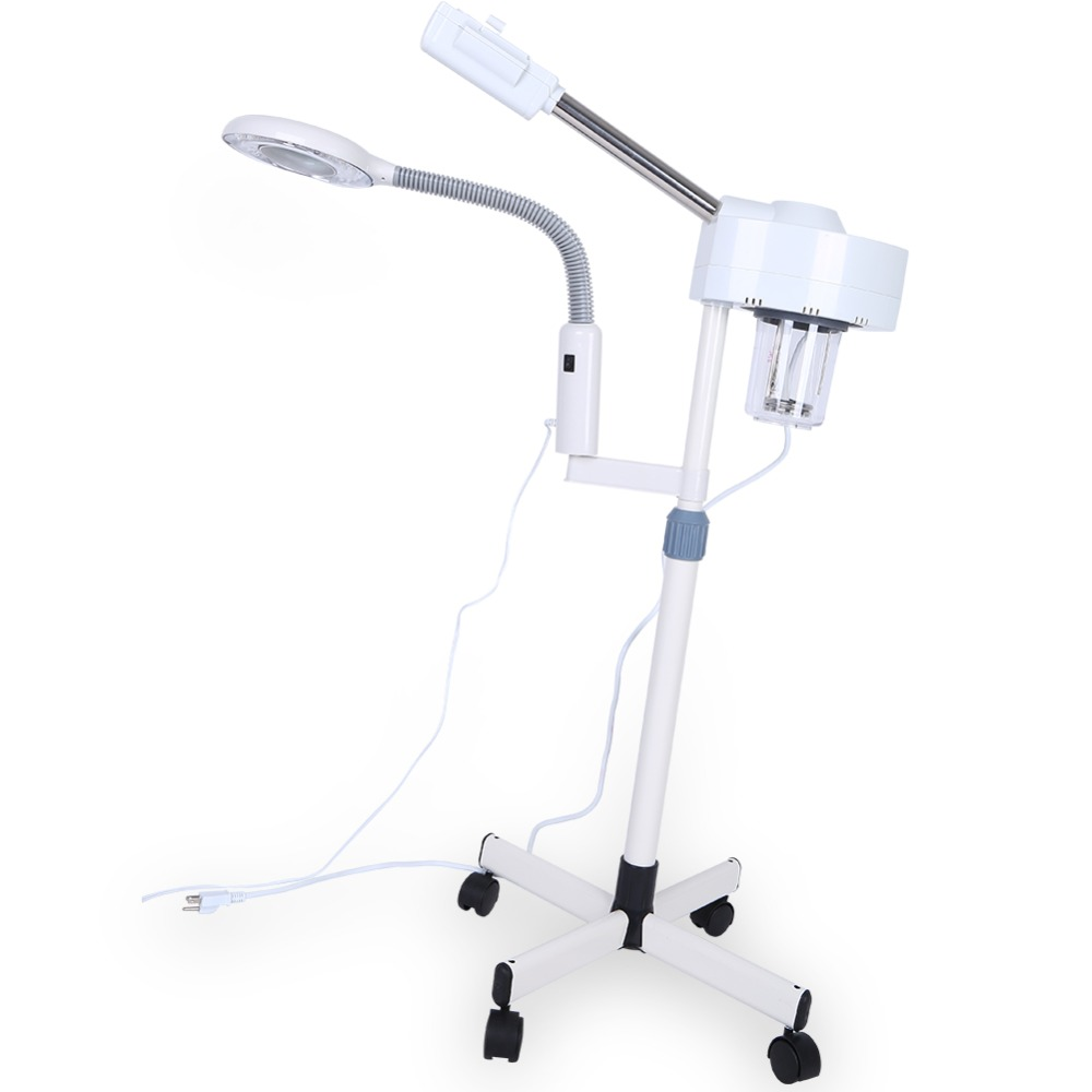 20W Professional Facial Steamer Light 3X Magnifying Lamp Machine Spa Salon Beauty Skin Care Equipment Lighting