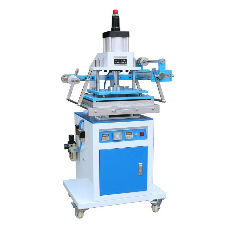 купить ZY-819M Pneumatic gold Hot Stamping Machine Large area 300*400MM Leather Embossing Machine Die indentation онлайн