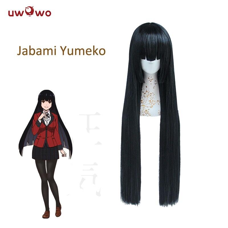 Anime Girl Hairstyles Long: UWOWO Yumeko Jabami Wig Anime Kakegurui Cosplay Hair 100cm