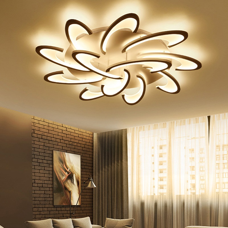 modern acrylic design ceiling lights bedroom living room 90 260v white ceiling lamp led home. Black Bedroom Furniture Sets. Home Design Ideas