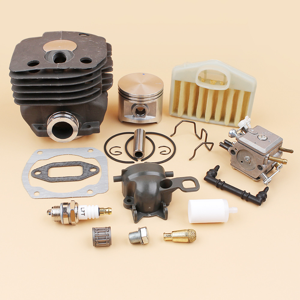 50mm Cylinder Piston Carburetor Air Filter Intake Elbow Kit For HUSQVARNA 372 371 365 362 Chainsaw Engine Motor Rebuild Kit50mm Cylinder Piston Carburetor Air Filter Intake Elbow Kit For HUSQVARNA 372 371 365 362 Chainsaw Engine Motor Rebuild Kit
