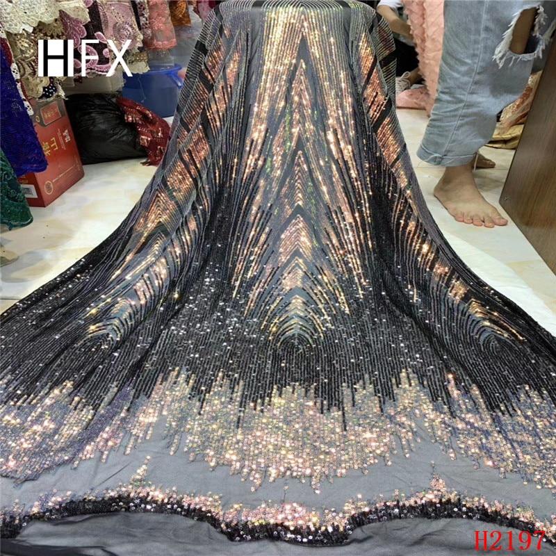 Ev ve Bahçe'ten Dantel'de Nijeryalı dantel kumaşlar 5yard 3D Sequins dantel kumaş net dantel kumaş 2019 payetler, yeşil dantel kumaş haute couture elbise F2197'da  Grup 3