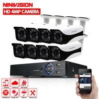 8CH CCTV System 1080N HDMI 4MP DVR 8PCS 4 0MP AHD CCD Waterproof Outdoor CCTV Camera