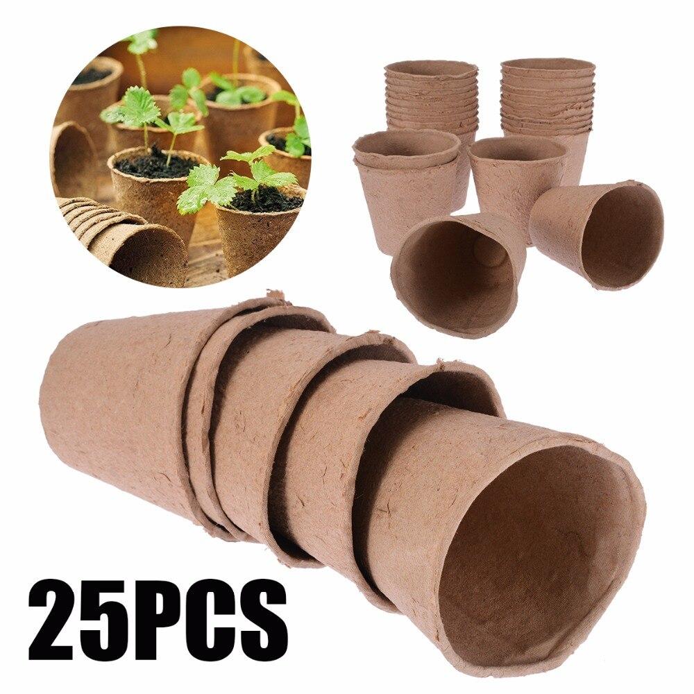 Diy Biodegradable Pots: Aliexpress.com : Buy Mayitr 25Pcs/lot Biodegradable Fibre