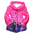 Hot!! Children Outwear&Coats Girls clothes Winter Cartoon Fur jacket Girls coat Cotton padded clothes For3-8Yrs