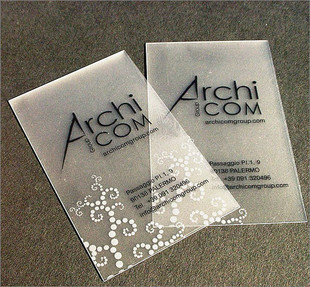 White ink printing Transparent business card pvc business card fine transparent scrub 200pcs