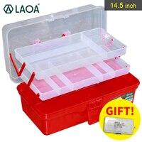 LAOA Portable Multifunction 3 Layers Colorful Folding Work Foldable Tool Box Medicine Cabinet Manicure Kit