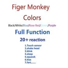 Полный funtion оригинальная обезьяна Интерактивная умная обезьянка электронная обезьяна игрушки для животных Рождественский подарок для детей палец детская обезьяна