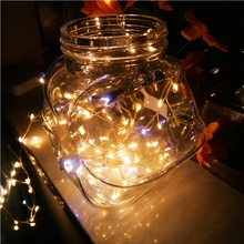 USB Firecracker Lamp Silver String Rice Grain Light Home Decoration Home and Garden Home lighting Warm white light(China)