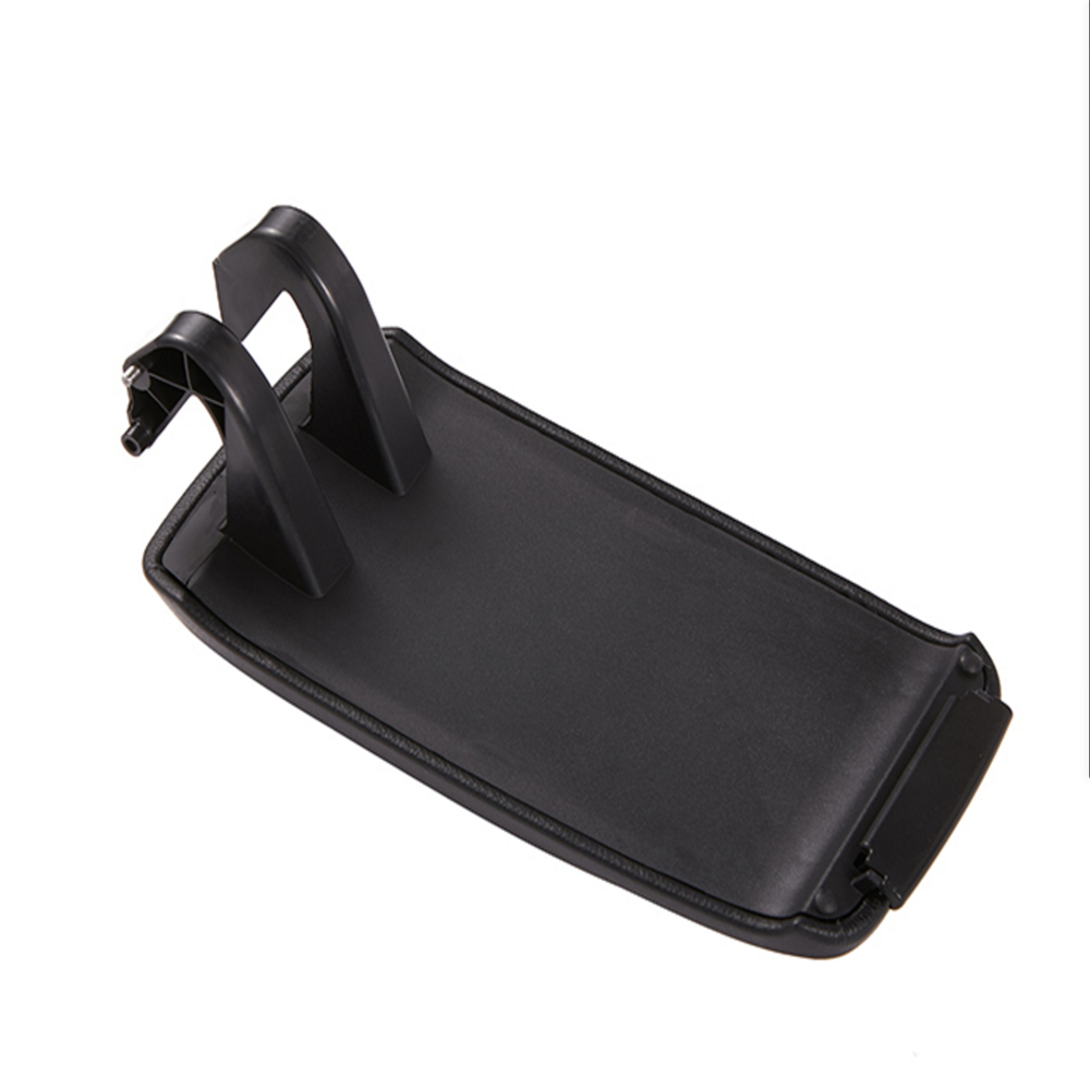 Image 2 - Leather Car Armrest Latch Cover Center Console Armrest Cover Car Black Storage Box  Lid Cover for Audi A3 8P/A5 Car accessories-in Armrests from Automobiles & Motorcycles