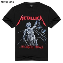 METAL KING Women's Metal Rock T Shirt Classic Music Metallica Punk Shirt Camisetas Mujer Summer Tops Ladies Pullover TShirt