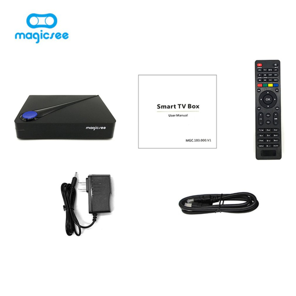 Magicsee C300 PRO Amlogic S912 Octa Core TV Box 2+16GB DVB-S2 DVB-T2 DVB-C Android 6.0 4K Smart TV Box Built-in 2.4G WiFi myev tv box for japan korea oversea version with 8 core wifi 16g 4k built in japanese korean live tv and others no need any fee
