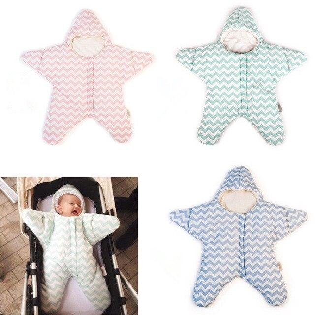 2016 Горячая Новорожденный Звезды Спальные Мешки Ребенка Зимой Кровать пеленальный одеяло Младенческой Спальный мешок 3 цвета