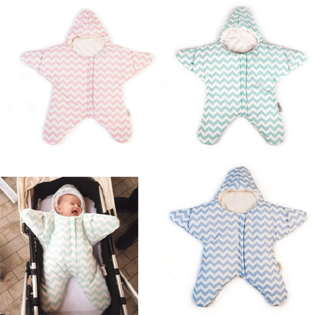 2016 Hot Newborn Starfish Sleeping Bags Baby Winter Bed swaddle blanket Infant Sleeping bag 3 colors