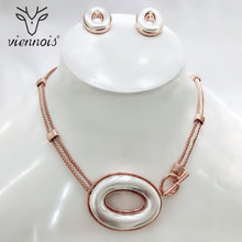 Viennois Mix Silver/ gold Color Stud Earrings Big Pendant Jewelry Set for Women Sets New